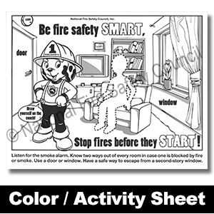 camp fire safety activities for kids printables