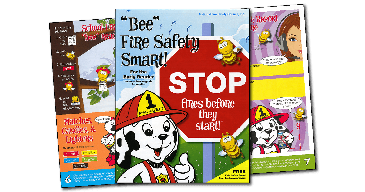 210F: 'Bee' Fire Safety Smart! Activity Book