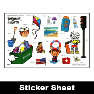 279A: Summer Safety Sticker Sheet
