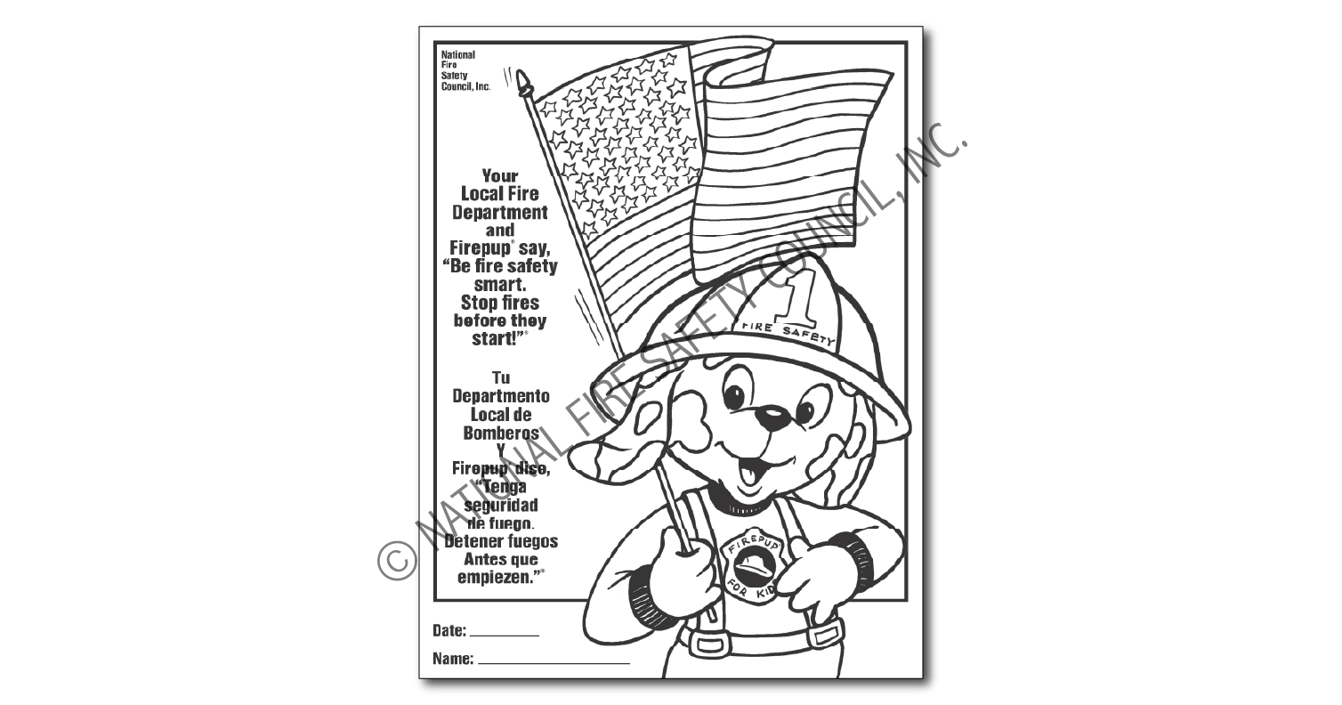612F: Firepup® Color / Activity Sheet