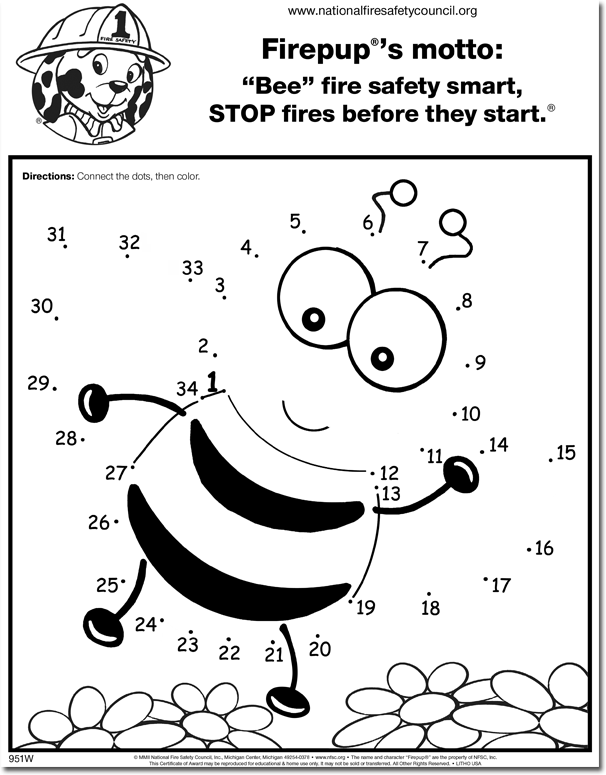 "951FW: ""Bee"" Fire Safety Smart! Activity Sheet"